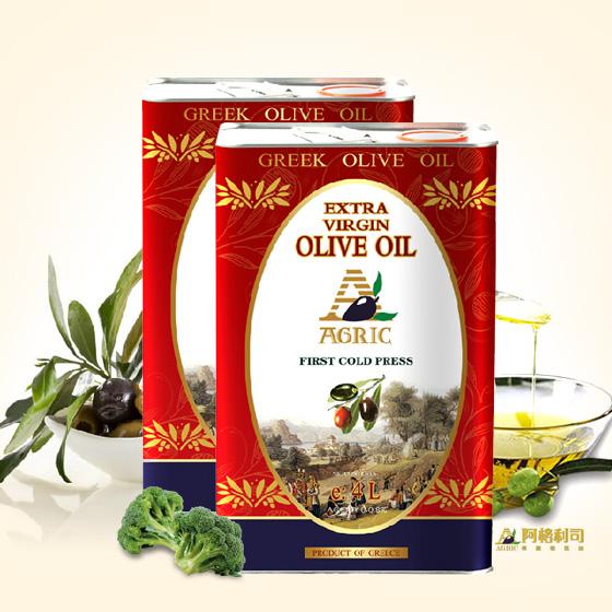 [希腊进口阿格利司]特级初榨橄榄油1L*2铁桶精品装