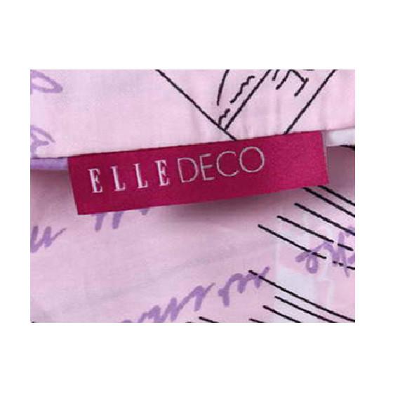 ELLE全棉斜纹印花四件套左岸假日系列标准-E6241 彩色