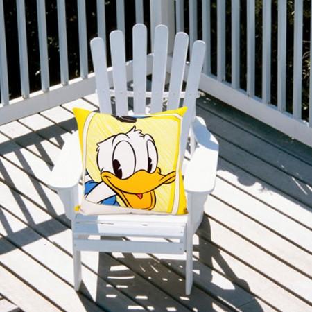 迪士尼笑一笑系列帆布抱枕(含芯) 黄色