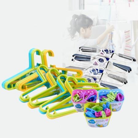 茶花家庭系列塑料衣架59件套