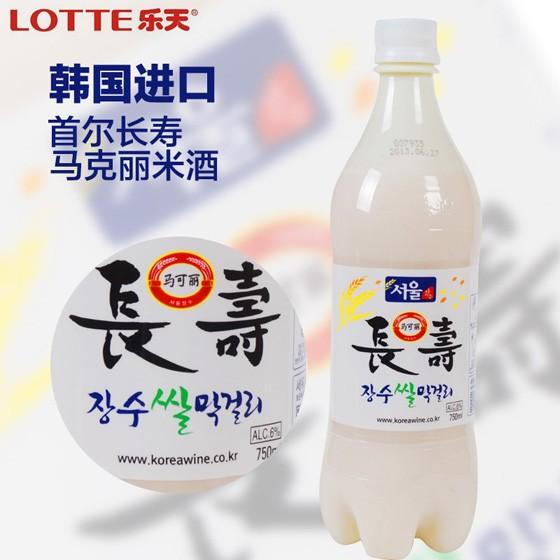 乐天首尔长寿马可丽米酒6瓶装 韩国进口