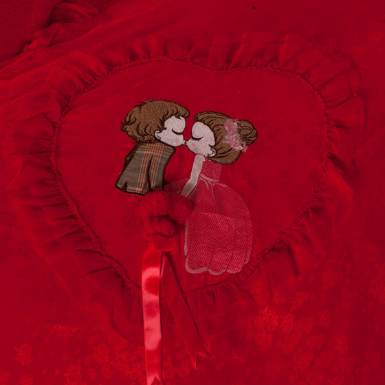 [梦洁] 甜蜜爱恋婚庆提花十件套 中国红