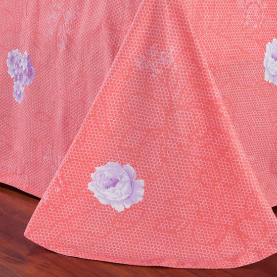 梦洁 花与爱丽丝100%精品纯棉六件套 粉色