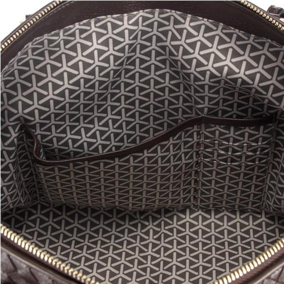 FINNESKER 编织手拎包·2个·棕色