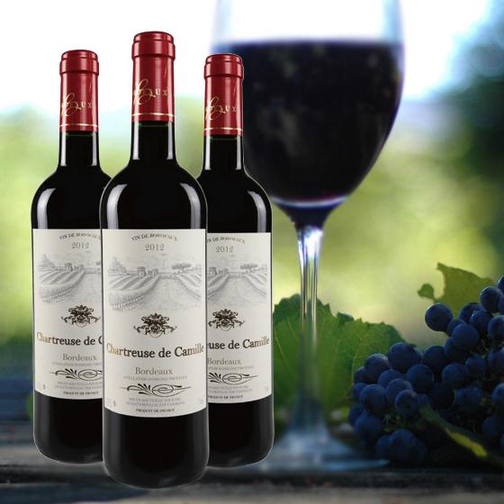 [查特]法国原瓶卡米尔红葡萄酒3瓶装