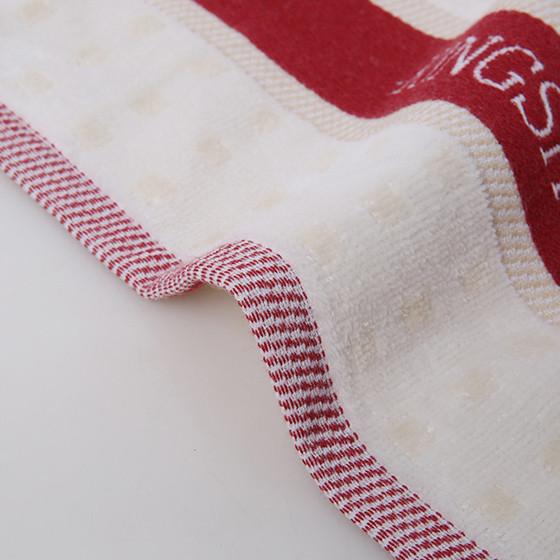 金号两条装提缎割纯棉毛巾G1790红蓝