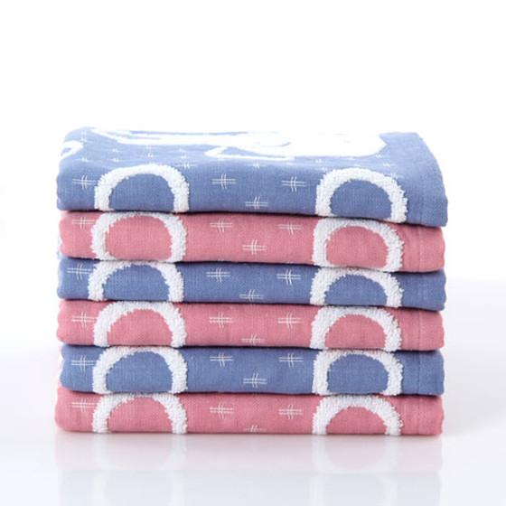 金号两条装双层提缎绣毛巾G1292红蓝