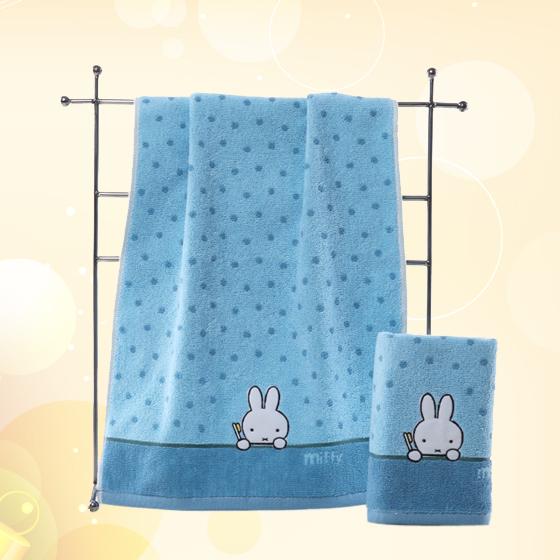 金号两条装米菲兔正品MF2029枕巾绿色