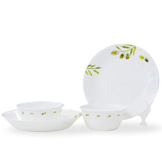 美国康宁 进口绿茵系列餐具4件 玻璃材质