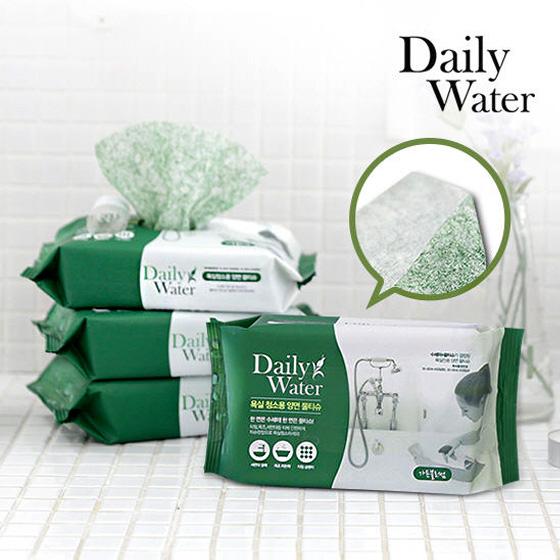 海外购韩国浴室用清洁湿巾40片*6包