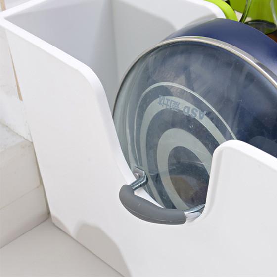 [其乐居舍]2色装滑轮收纳箱 白绿