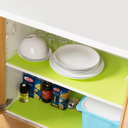 [其乐居舍]抗菌防潮家用橱柜衣柜垫3卷 绿色
