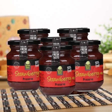 西班牙原装进口橡木林草莓果酱350g*4罐