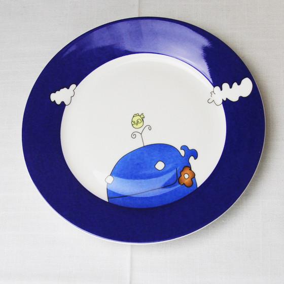 迪奥百合鲸鱼与鸟20头骨瓷餐具套装家庭装