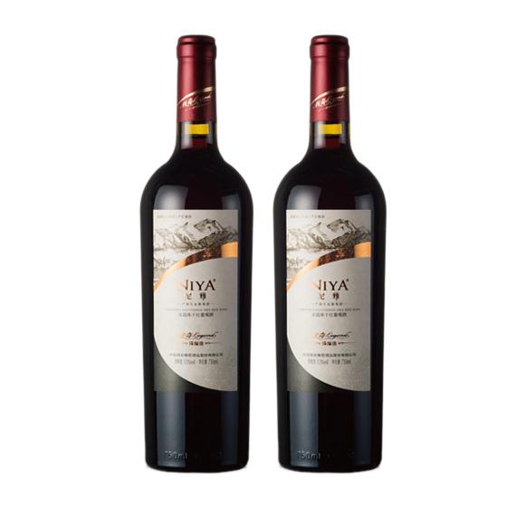尼雅臻酿级赤霞珠干红2瓶 100%葡萄汁酿造