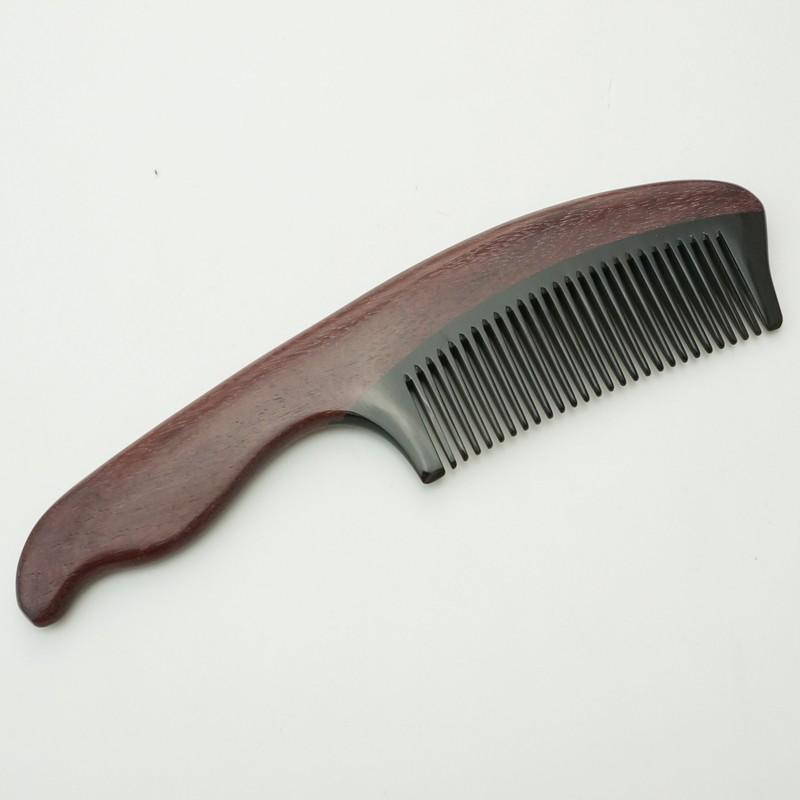 百年许氏精品紫罗兰配黑水牛角梳