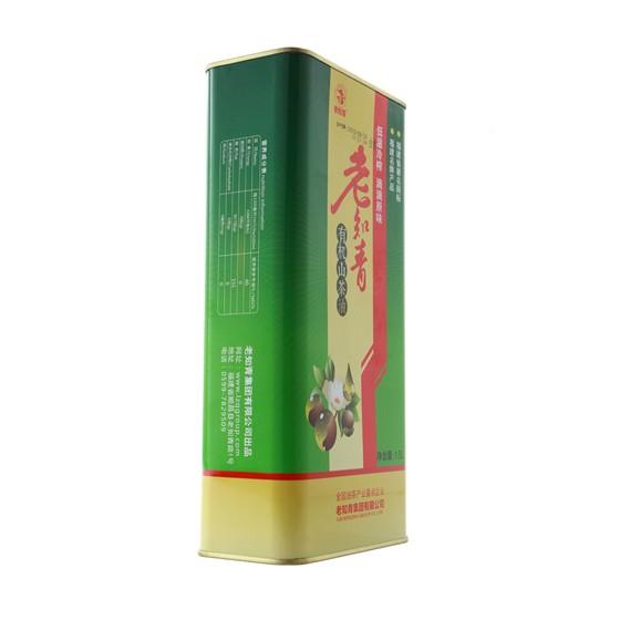 老知青有机山茶油1.5L马口铁