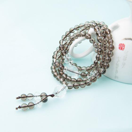 瑞切尔精品茶水晶佛珠手链