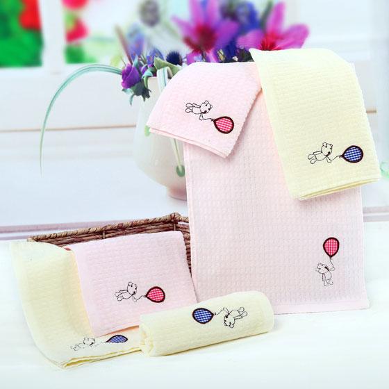 洁玉四条装JY-8039T粉米童巾