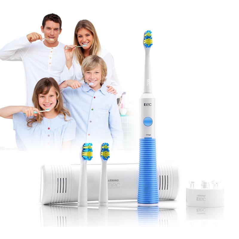 力博得Elec系列电动牙刷充电型(含3支刷头) 蓝色