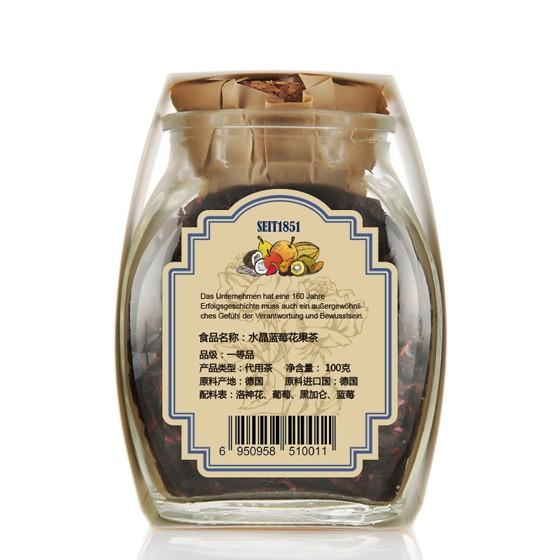 爱这茶语水晶蓝莓+法兰西玫瑰花茶