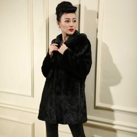 今昇 奢华整貂皮大衣·黑色