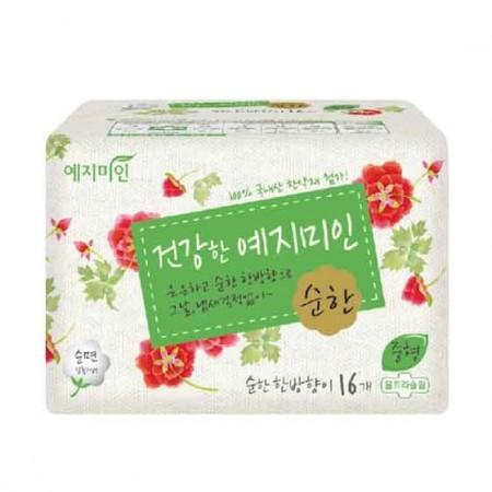 韩国幽香纯棉卫生巾(中)16片*1包