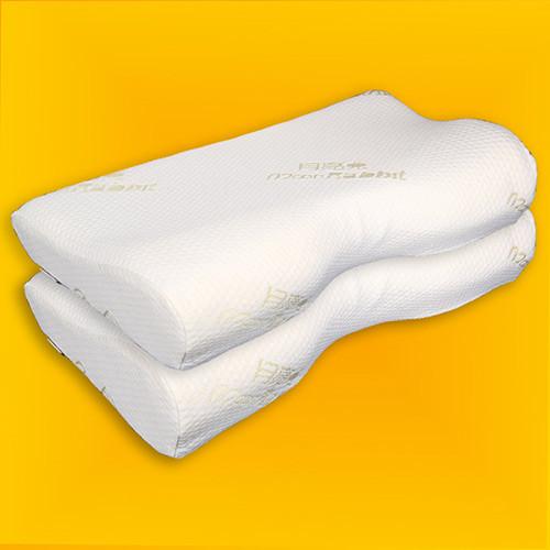 [月亮兔] 护颈保健记忆对枕 白色