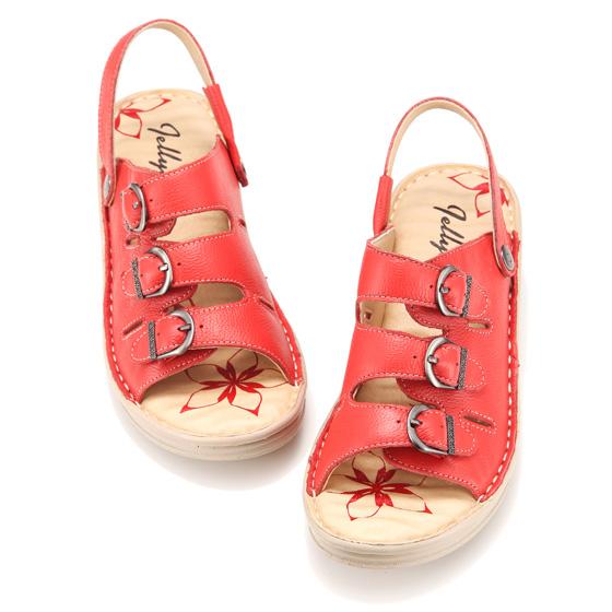 [Jellyko]舒适款女士凉鞋 红色