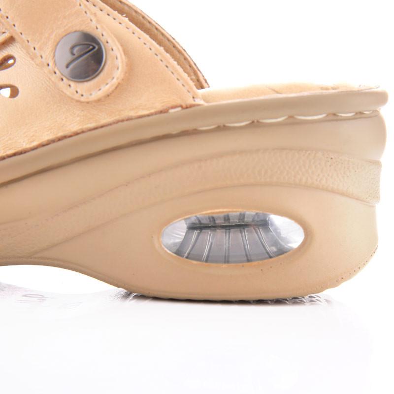 Jellyko牛皮气垫女款凉鞋·珠光金