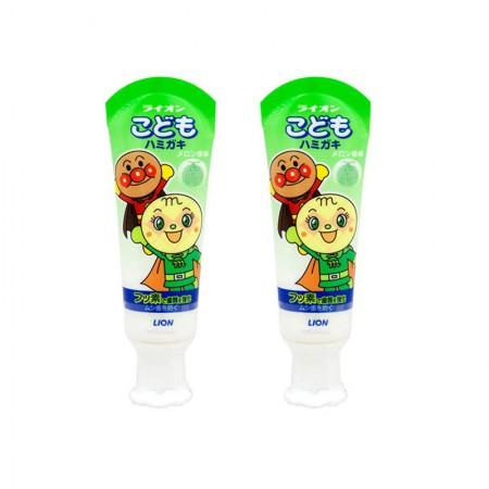 LION狮王面包超人宝宝牙膏40g*2 (哈蜜瓜味)