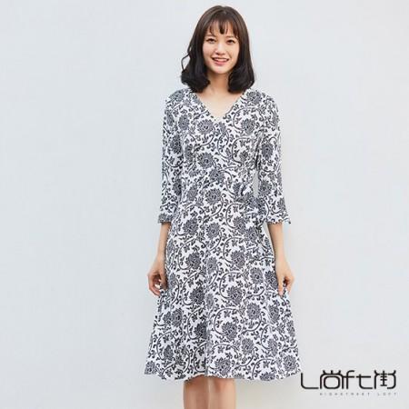 尚街 真丝系带连衣裙·白色