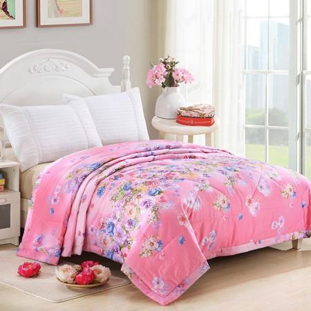 唯眠纺 纯棉空调夏凉双人被 200*230cm 梦幻天使·粉红色~