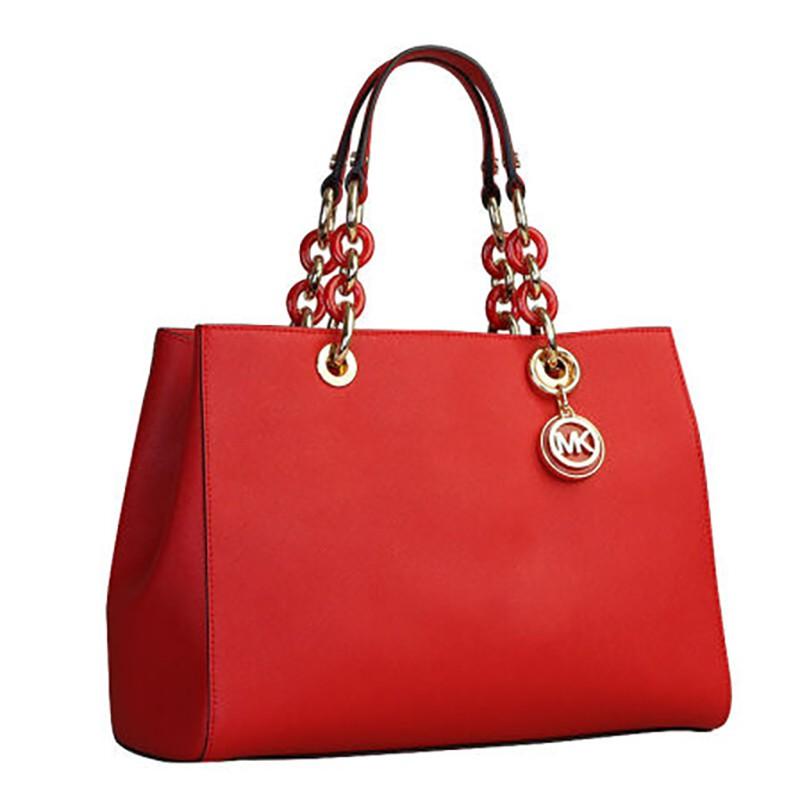 MICHAEL KORS 迈克·科尔斯皮质 中戴妃包手提包 红色 30S3TCYS2L
