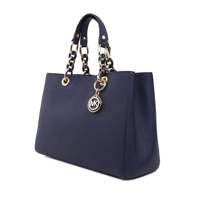 MICHAEL KORS 迈克·科尔斯经典款中号戴妃包手提包30S3TCYS2L·深蓝色