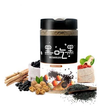 颂农黑芝麻黑豆粉300g*4罐谷物冲调饮品