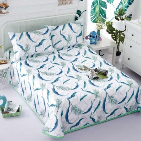 一梦 可水洗床单式空调冰丝凉席三件套 翡翠梦境 230*250cm