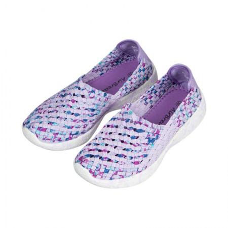AIRBREATHE时尚网眼透气编制女鞋·紫色