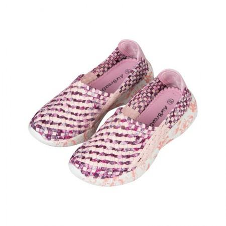 AIRBREATHE时尚网眼透气编制女鞋·粉色