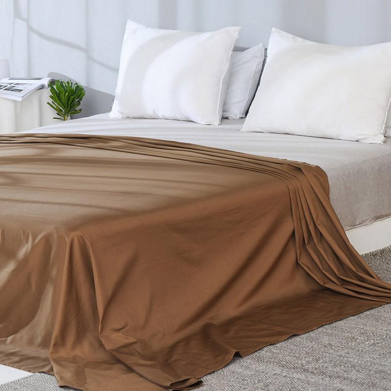 丝滑缎纹 舒适百搭 全棉贡缎纯色床单245*250cm