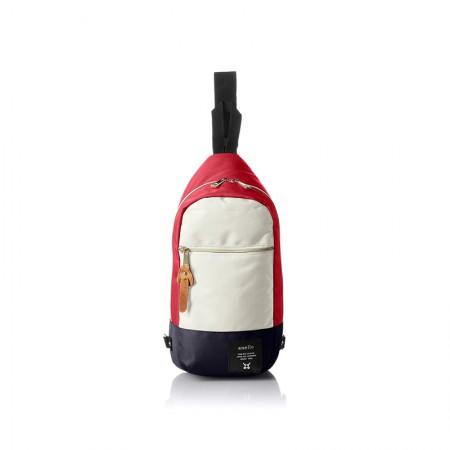 日本直邮 ANELLO 单肩斜跨包 AT-B0194·红白蓝色