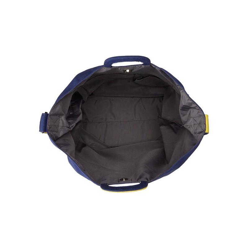 日本直邮 anello 2WAY 反色商标2用大手提包/单肩挎包 帆布休闲包·蓝色