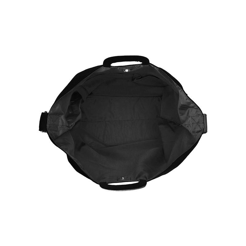 日本直邮 anello 2WAY 反色商标2用大手提包/单肩挎包 帆布休闲包·黑色