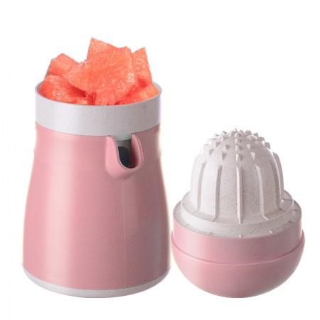 美之扣 简易手动压橙器水果榨汁机 升级款·粉红色~