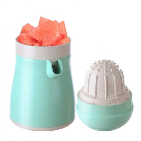 美之扣 简易手动压橙器水果榨汁机 升级款·浅绿