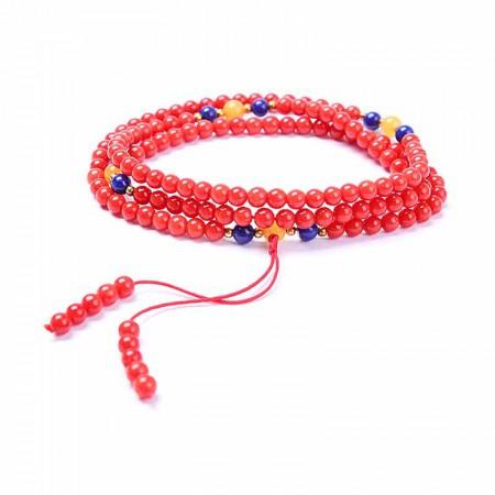 映时时尚红珊瑚圆珠项链手串