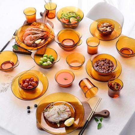 DURALEX多莱斯 餐具套装六人25件套·琥珀色