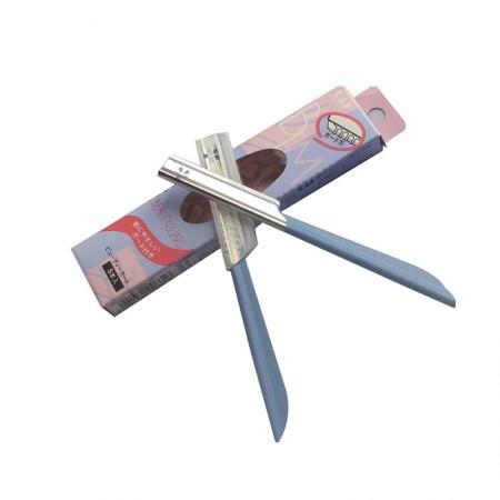 香港直邮 日本KAI贝印COSMOS带防护套新手适用安全修眉刀蓝色5支入*3