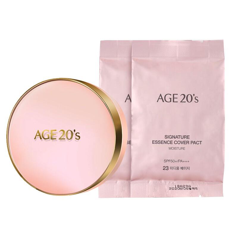 香港直邮 爱敬 AGE20s新版粉盒气垫正装23#自然色/个(+替换装*1个)  共同
