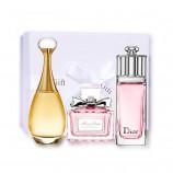 香港直邮迪奥Dior女士花漾Q版香水三件套礼盒装真我+粉红魅惑+花漾甜心5ml  共同  共同